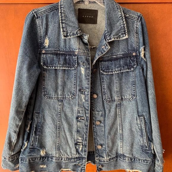 Blank NYC Jackets & Blazers - Blank NYC Distressed Denim Jacket